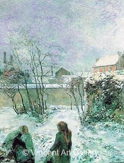 Snow  Effect by Paul  Gauguin