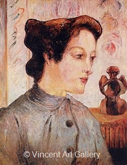 Woman with a Chignon by Paul  Gauguin