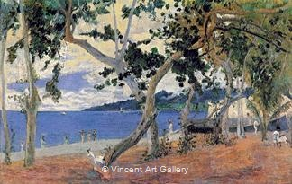 By the Sea, Martinique I by Paul  Gauguin