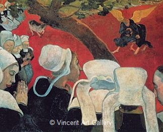 Vision after the Sermon, Jacob Wrestling with the Angel by Paul  Gauguin