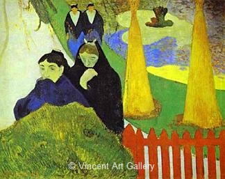 Women from Arles in the Public Garden, the Mistral by Paul  Gauguin