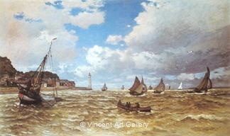 Mouth of the Seine at Honfleur by Claude  Monet