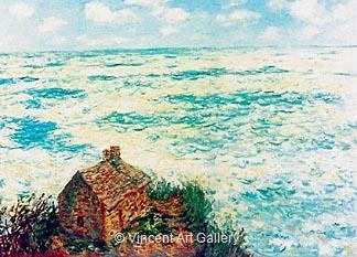 The Custom's House, Rough Sea by Claude  Monet