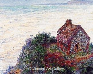 The Customs House by Claude  Monet