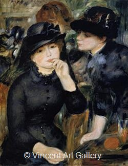 Girls in Black by Pierre-Auguste  Renoir