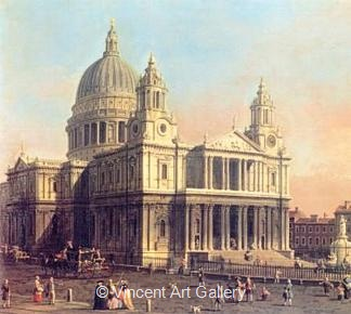 St. Pauls Cathedral, London by   Canaletto