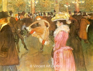 La Dance au Moulin Rouge by Henri de Toulouse-Lautrec