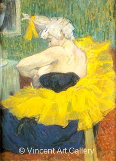 The Clowness by Henri de Toulouse-Lautrec