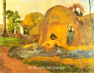 Yellow Wheat Stacks by Paul  Gauguin