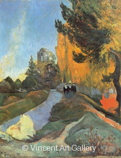 The Roman Burial Ground at Arles by Paul  Gauguin