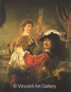 Rembrandt and Saskia: The Lost Son in a Brothel by Rembrandt van Rijn
