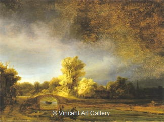 Landscape with a Stone Bridge by Rembrandt van Rijn