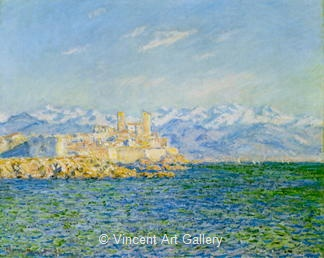 The Fort Antibes, Afternoon Effect by Claude  Monet