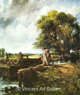 Boat Passing a Lock by John  Constable