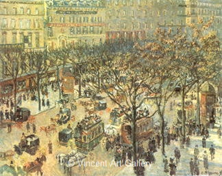 Boulevard des Italiens, Morning Sunlight by Camille  Pissarro