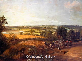 Stour Valley & Dedham Church by John  Constable
