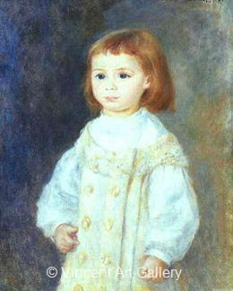 "Lucie Berard ""Child in White"" by Pierre-Auguste  Renoir"