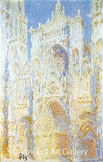 The Portal in the Sun by Claude  Monet