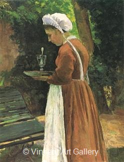 The Maidservant by Camille  Pissarro