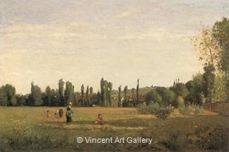 La Varenne-St-Hilaire, View from Champigny by Camille  Pissarro