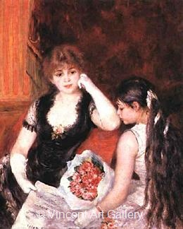 At the Concert by Pierre-Auguste  Renoir