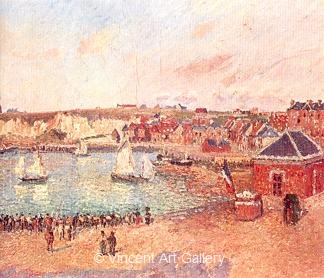 L' Avant-port Dieppe by Camille  Pissarro