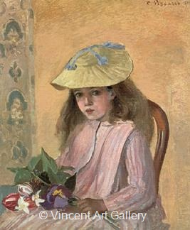 The Artist's Daughter by Camille  Pissarro