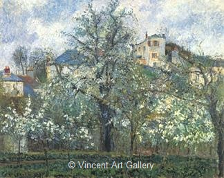 The Garden at Pontoise by Camille  Pissarro