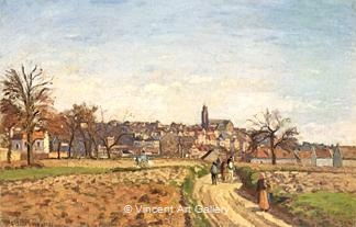 View of Pontoise by Camille  Pissarro