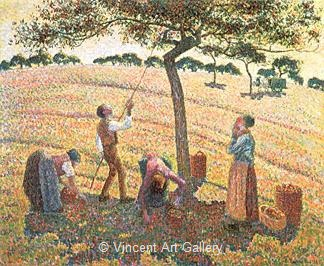 Apple Picking at Eragny by Camille  Pissarro