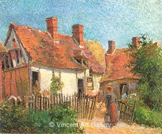 Old House at Eragny by Camille  Pissarro
