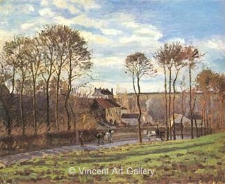 Pontoise, Les Mathurins (Former Convent) by Camille  Pissarro
