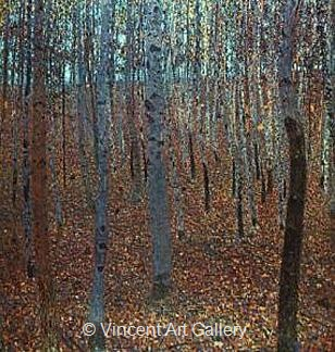 Beech Forest I by Gustav  Klimt