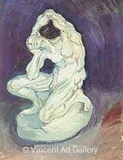 Plaster Statuette of a Kneeling Man by Vincent van Gogh
