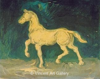Plaster Statuette of a Horse by Vincent van Gogh