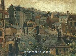 View of the Roofs of Paris by Vincent van Gogh