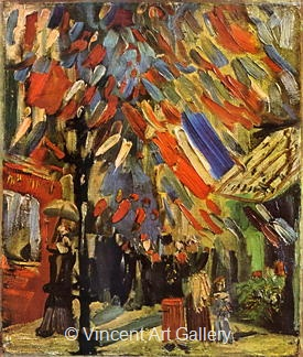 The Fourteenth of July Celebration in Paris by Vincent van Gogh