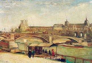 The Pont du Carrousel and the Louvre by Vincent van Gogh