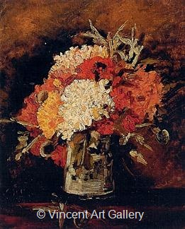 Vase with Carnations by Vincent van Gogh