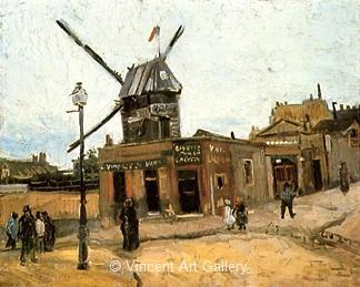 Le Moulin de la Galette by Vincent van Gogh - Oil Painting Reproduction