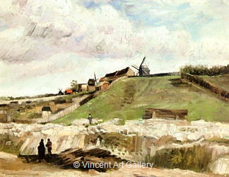 Montmartre : Quarry, the Mills by Vincent van Gogh