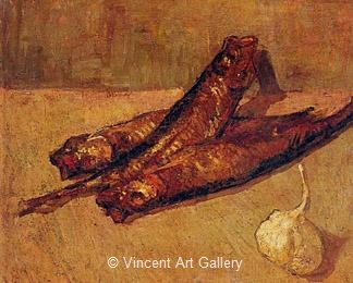 Still Life with Bloaters and Carlic by Vincent van Gogh