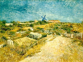 Vegetable Gardens in Montmartre: La Butte Montmartre by Vincent van Gogh