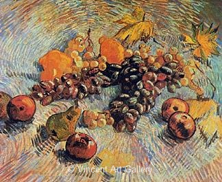 Still Life with Grapes, Apples, Pear and Lemons by Vincent van Gogh
