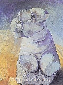 Plaster Statuette of a Female Torso by Vincent van Gogh