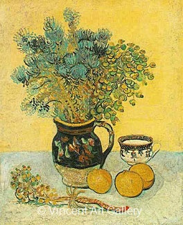 Still Life, Majolica Jug with Wildflowers by Vincent van Gogh