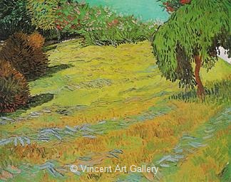 Meadow with Weeping Willow by Vincent van Gogh