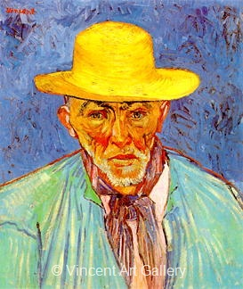 Portrait of Patience Escalier,Shepherd in Provence by Vincent van Gogh
