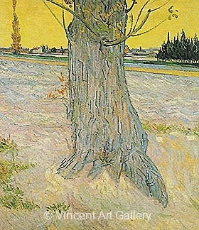 Trunk of an Old Yew Tree by Vincent van Gogh