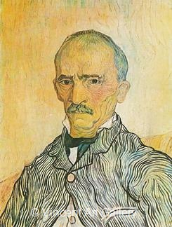 Portrait of Trabuc, an Attendant at Saint-Paul Hospital by Vincent van Gogh